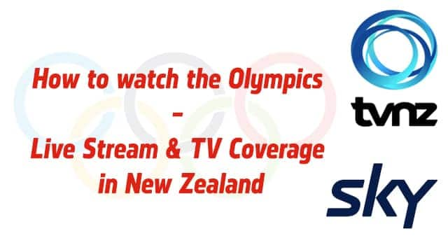 Olympics live stream in New Zealand