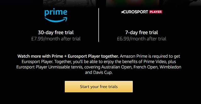 Amazon Prime + Eurosport Player